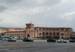 Yerevan een moderne hoofdstad met Sovjet architectuur