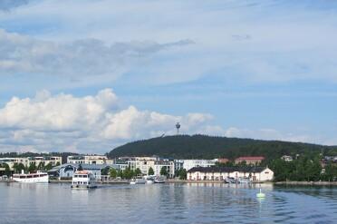 Kuopio het centrum van het merengebied van Finland