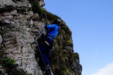 Beklim de Alpen eens tijdens via ferrata in Oostenrijk