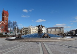Minsk de hoofdstad van Wit-Rusland